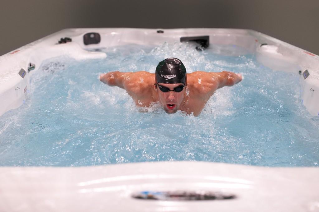 Micheal Phelps In The MP Signature Swim Spa