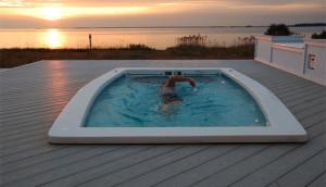 Swimex 600s at sunset